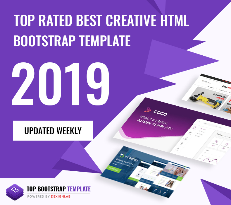 Top Rated Best Creative HTML/Bootstrap Template 2019 - Updated Weekly