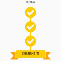 Couch to 5k Week 4 Completion Badge