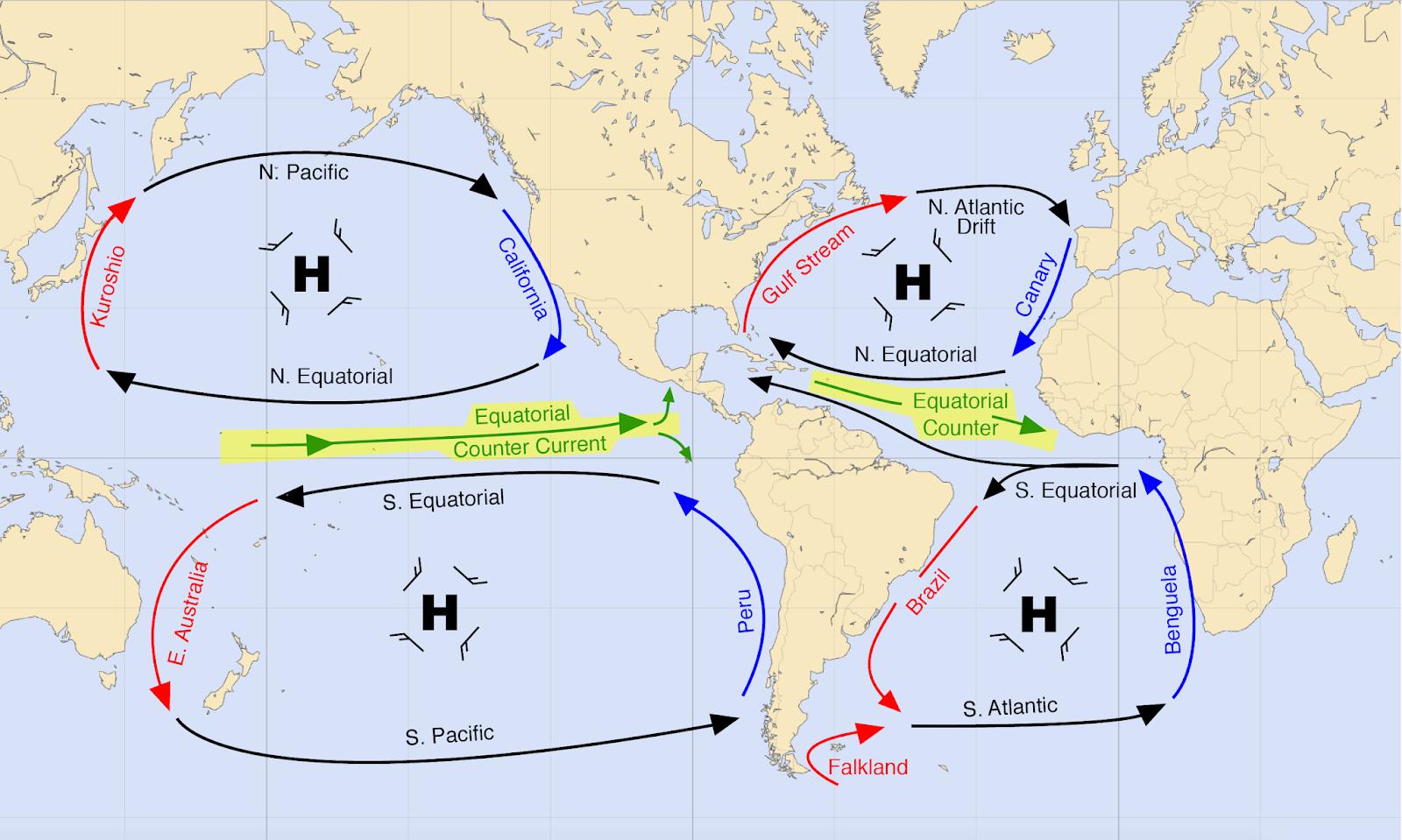 David Burch Navigation Blog Equatorial Countercurrents