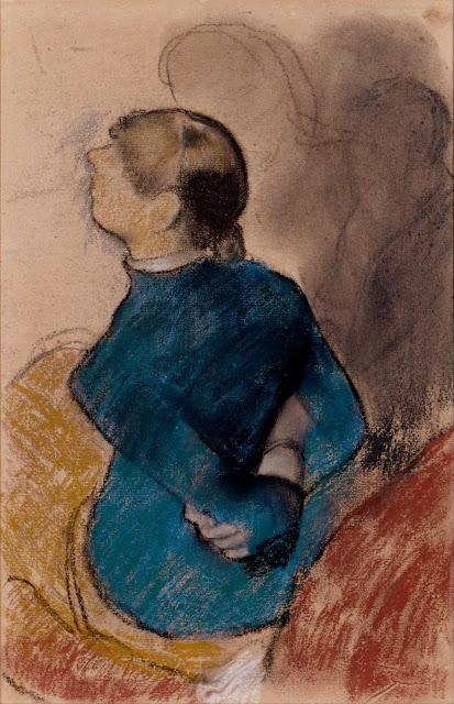 Эдгар Дега - Молодая женщина в голубом (ок.1884)