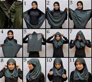 cara memakai hijab pashmina terbaru