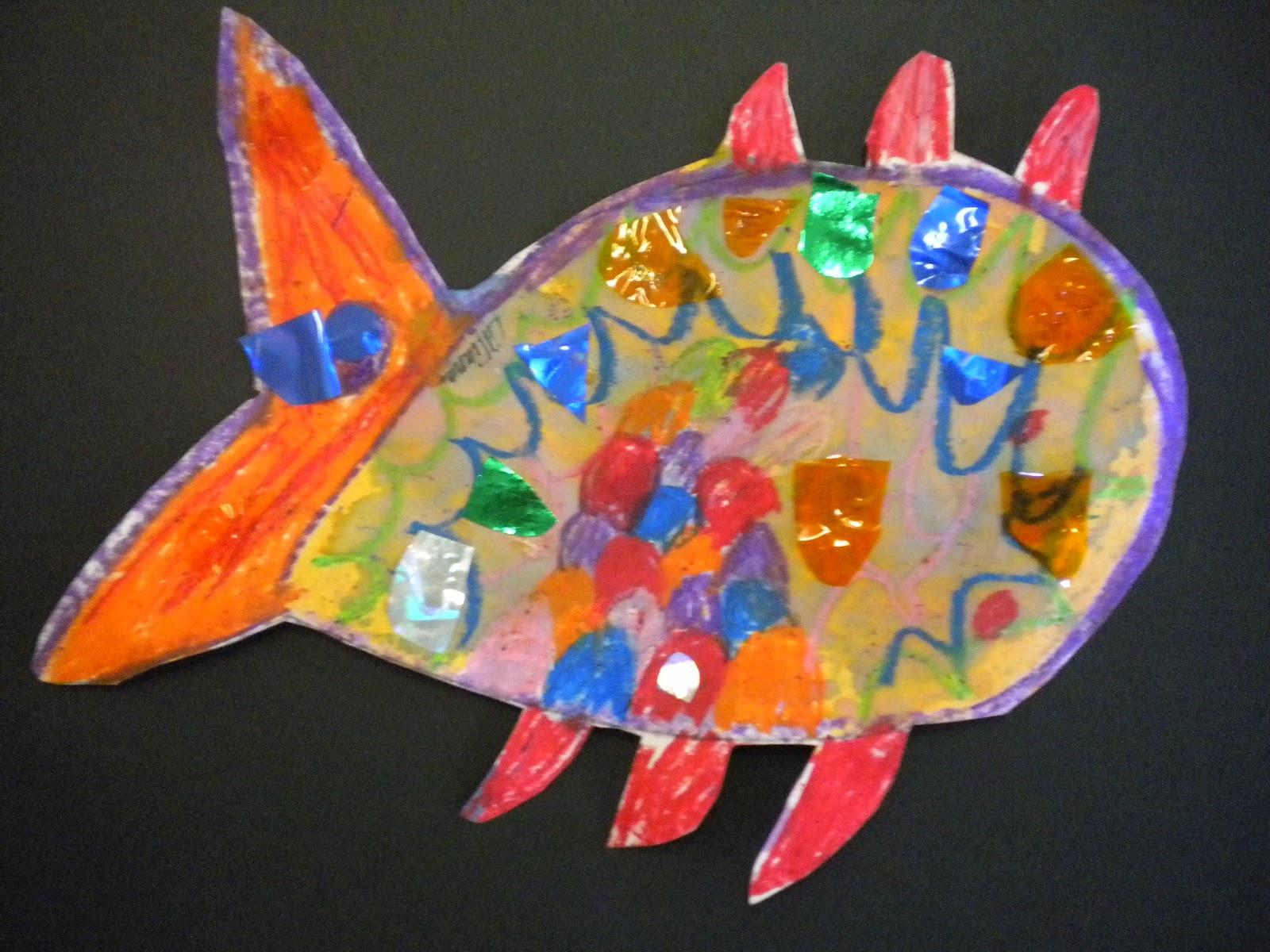 Waitsfield Elementary Art Kindergarten Rainbow Fish