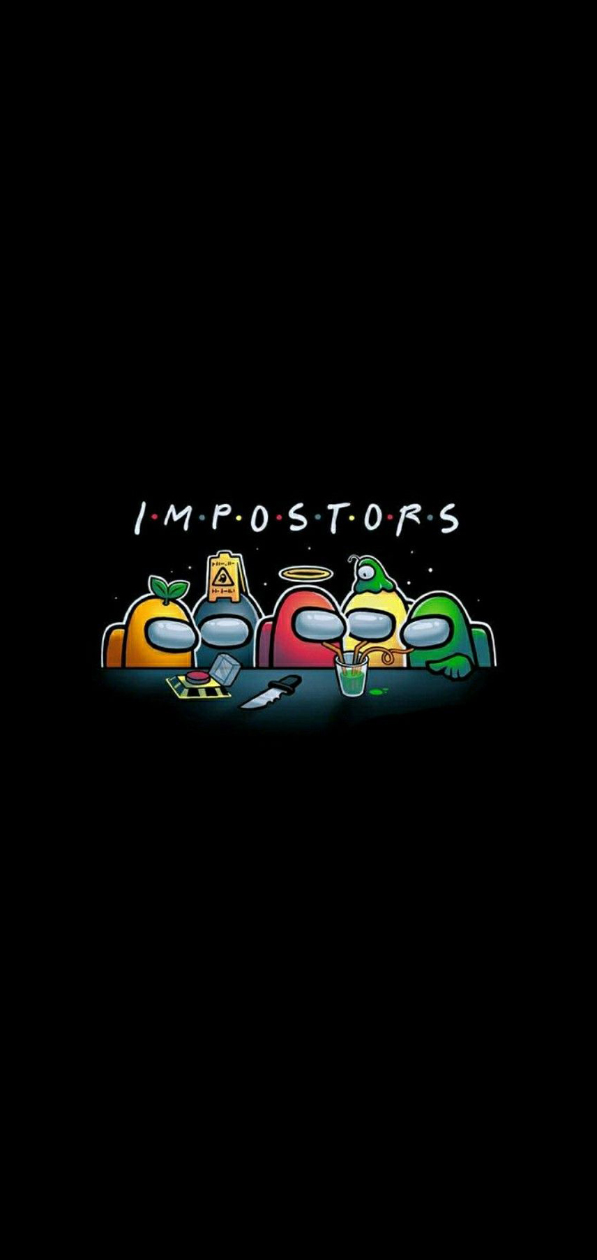 among us impostor wallpaper for phone iphone mobile hd free download
