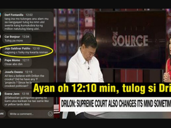 WATCH: Senator Drilon tulog sa interview