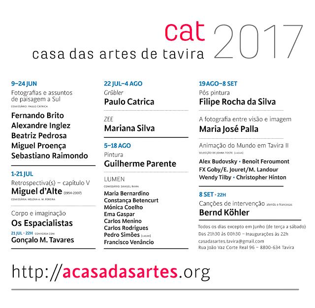 Programa 2017  . cartaz . Casa das Artes de Tavira