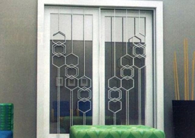 teralis jendela dengan perpaduan motif menarik