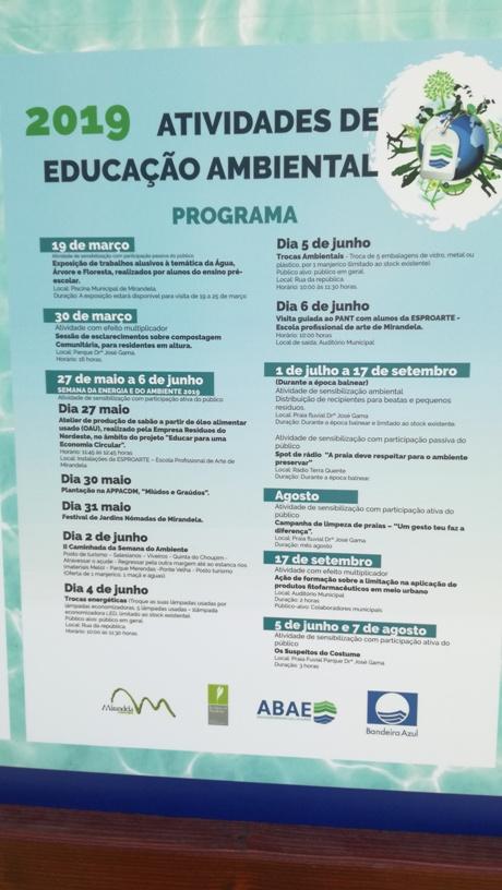 Actividade de Educação Ambiental em 2019