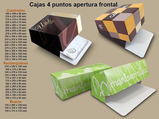 caja pastel cuadrada