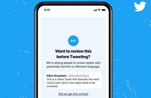 Twitter updates the offensive Tweet warning