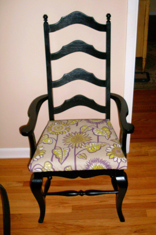 Dishfunctional Designs: Vintage Dining Room Set Makeover: Paint It Black