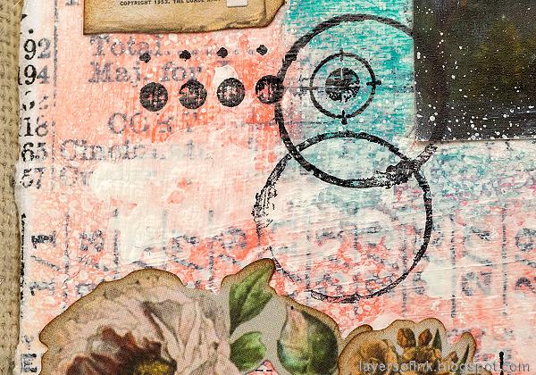 Layers of ink - Vellum Summer Art Journal Page Tutorial by Anna-Karin Evaldsson.