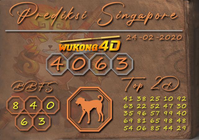Prediksi Togel SINGAPORE WUKONG4D 24 FEBRUARI 2020