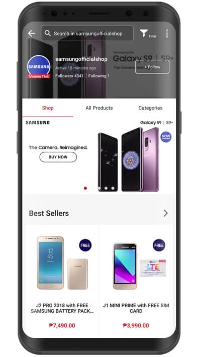 Samsung Opens Official Store in Shopee Philippines