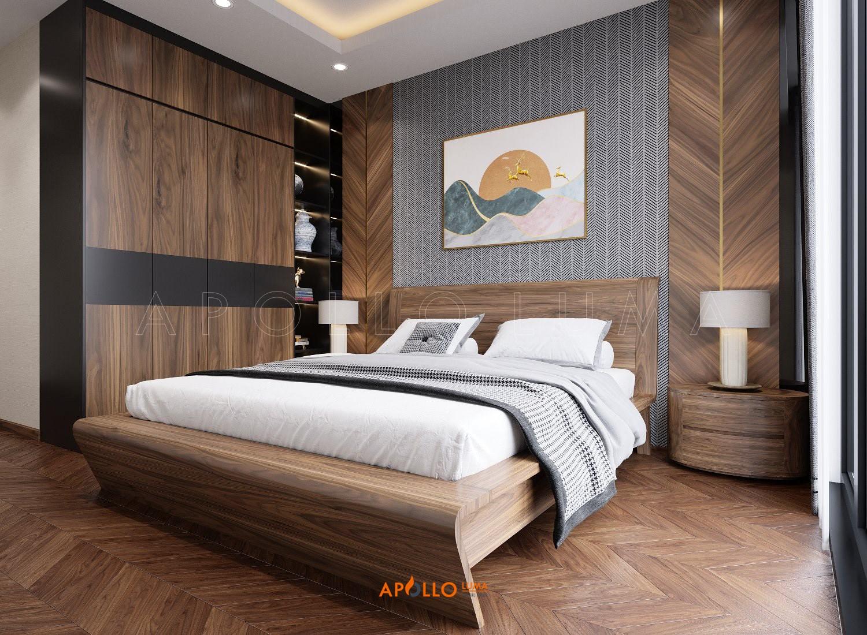 Giường ngủ gỗ Tần Bì đẹp - Apollo TB01