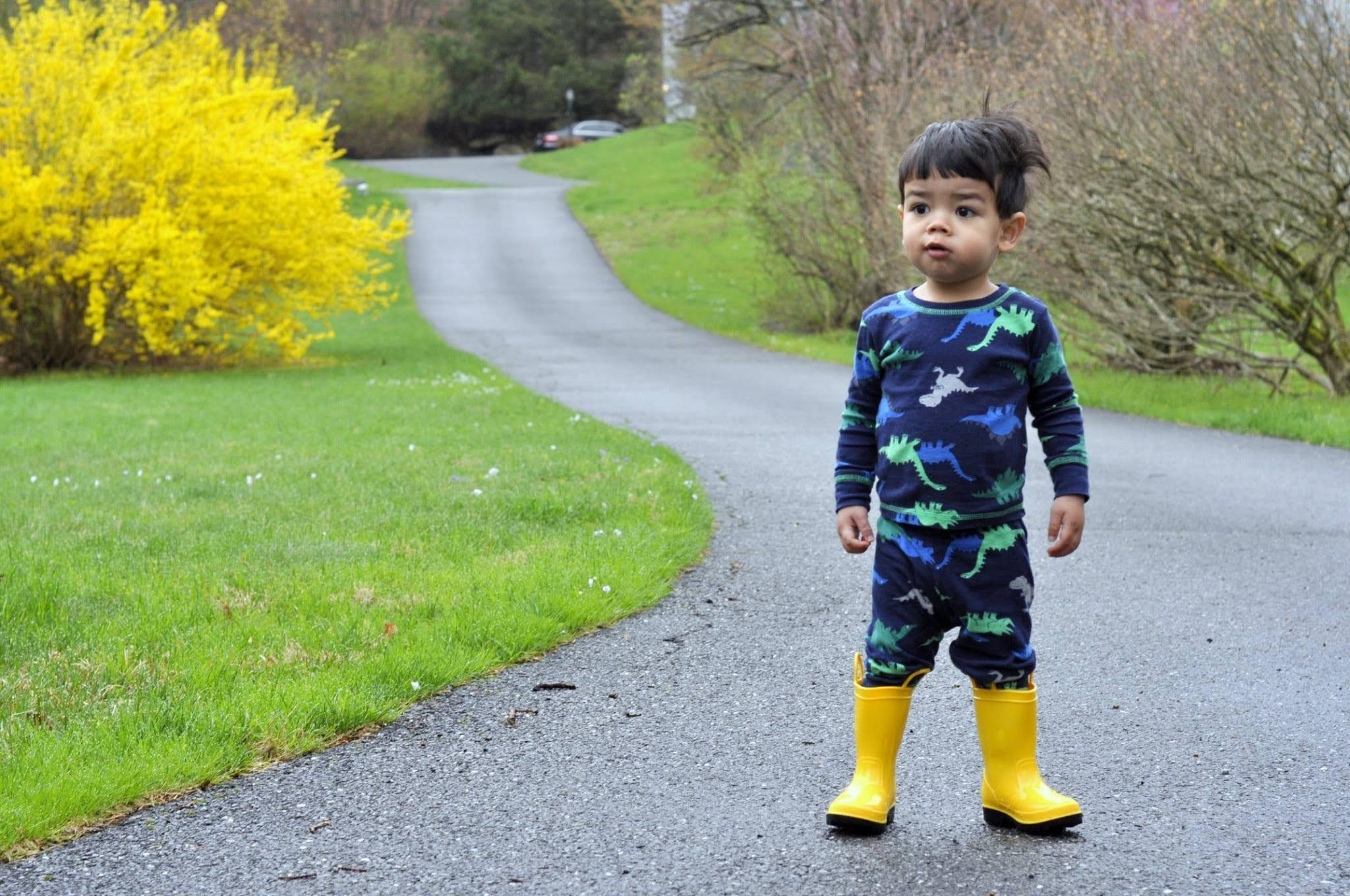 Dinosaur Pajamas and Yellow Rain Boots | Taste As You Go