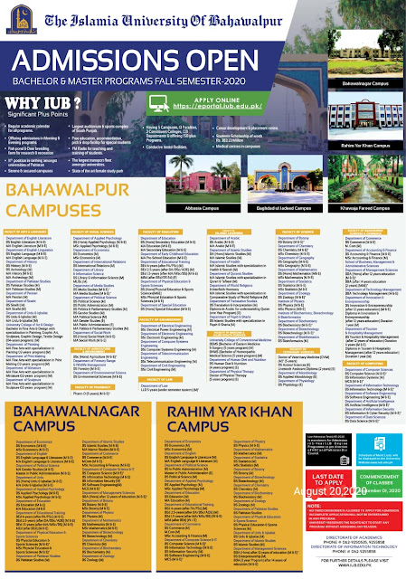 Date Extended IUB Fall Admission-2020