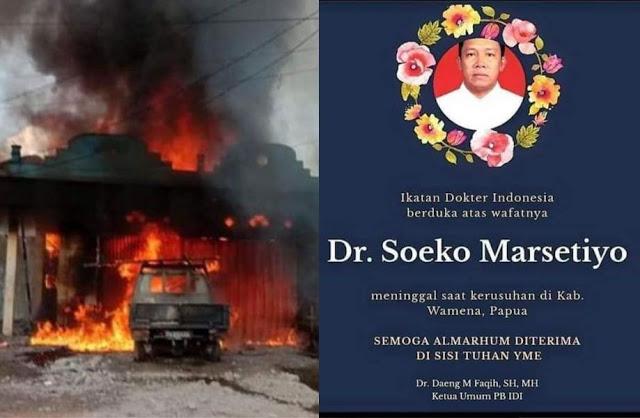 Kerusuhan di Wamena: 32 Orang Meninggal, Mobil Dihadang, Dokter Dibakar