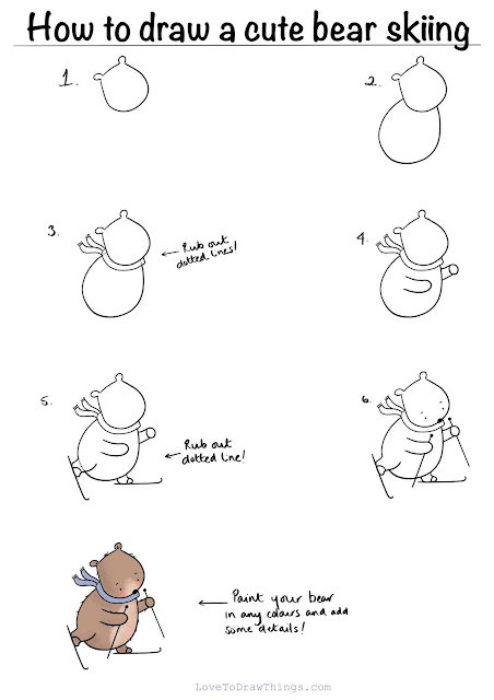 Easy cute step by step drawing