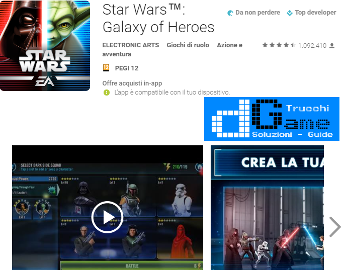 Trucchi Star Wars™: Galaxy of Heroes Mod Apk Android v0.7.181815