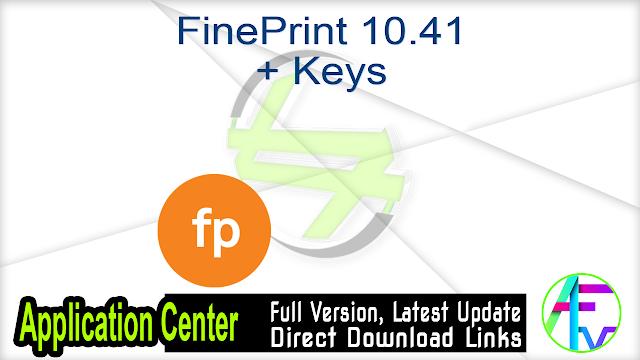 FinePrint 10.41 + Keys