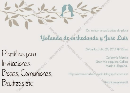 formato para invitaciones de boda