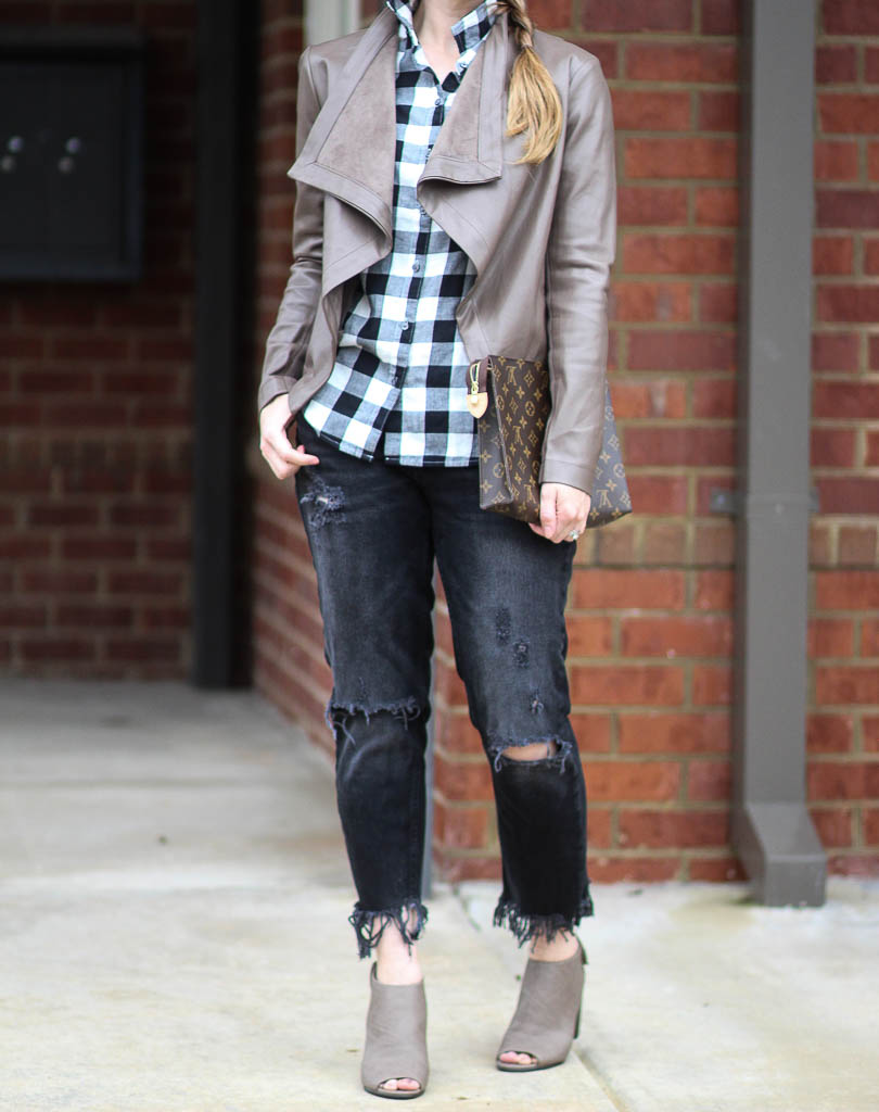 Casual chic ways to layer a leather jacket