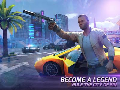 pada kesempatan kali ini admin akan membagikan sebuah Gangstar Vegas - mafia game v3.6.0m Mod Apk (Mega Mod)