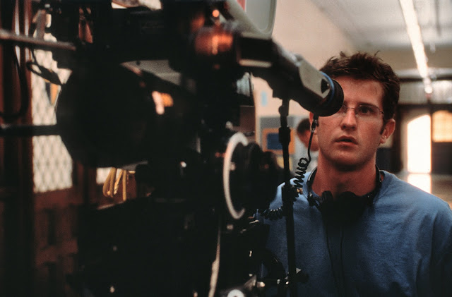 Richard Kelly on the set of Donnie Darko