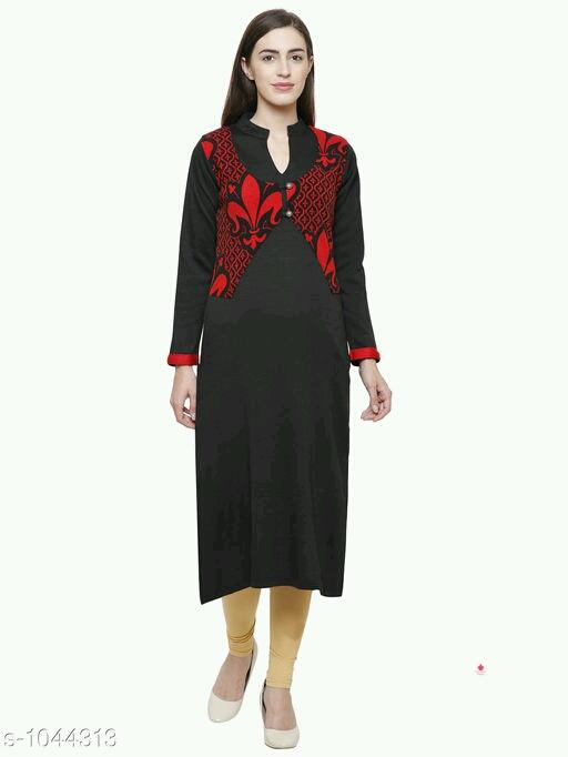 classy embroidery woolen kurtis.