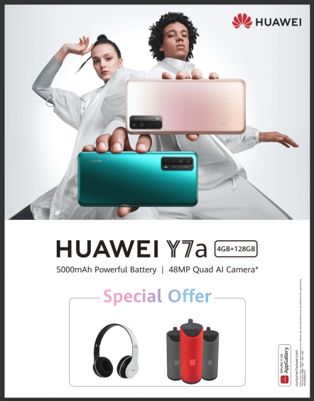 HUAWEI Y7a with 48MP camera