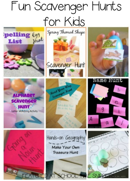 educational scavenger hunt games for kids