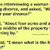 Why do you want a divorce?