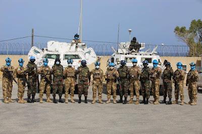 Kompi Kawal Indonesia - Sri Lanka Gelar Patroli Bersama di Daerah Misi