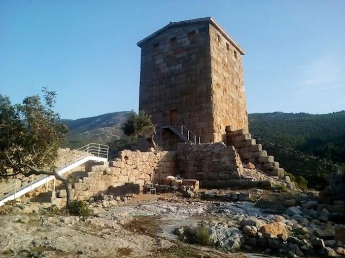 Η αναστήλωση του ΝΑ πύργου του αρχαίου φρουρίου των Αιγοσθένων