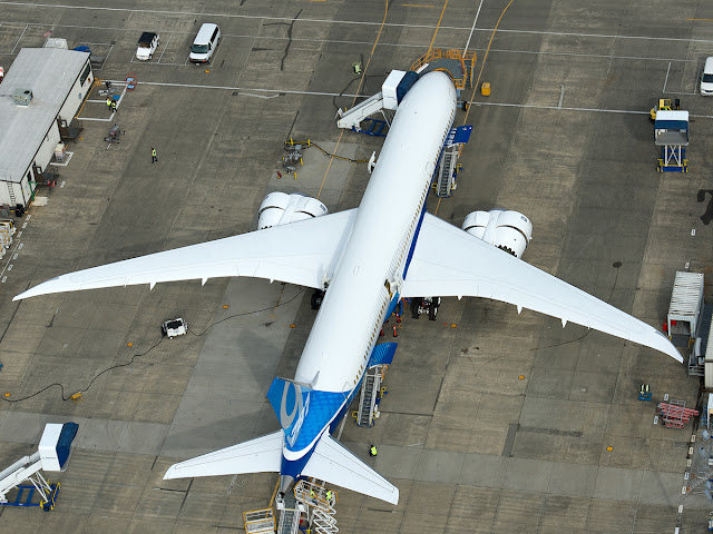 Boeing 787-9 Dreamliner, Bird Eye View