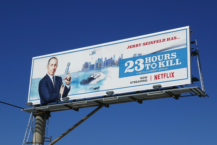 Jerry Seinfeld 23 Hours to Kill standup billboard