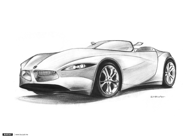 BURBLOG: Pencil car drawings