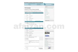 Cara Mmbuat Halaman Terms of service (TOS) Secara Online