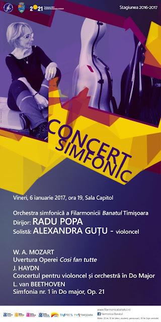 Concert simfonic la Timisoara - 06 ian 2017