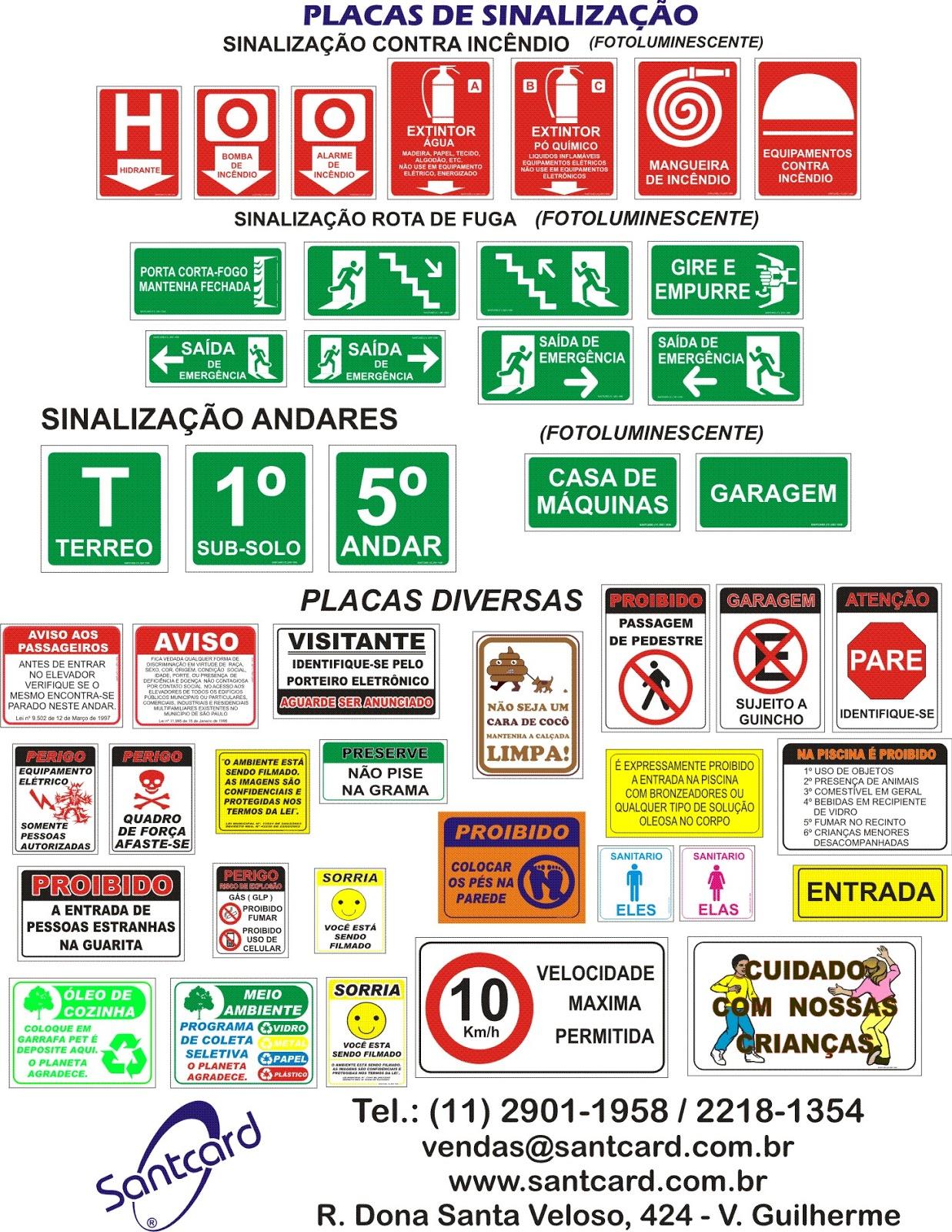 9d041a42d6e0e Santcard - Sinalização Obrigatória e Crachás para Veículos