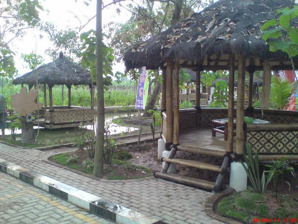 Jual saung bambu murah