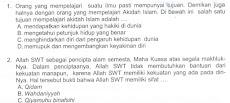 Contoh Soal dan Kunci Jawaban  UAMBN MTs Mapel Aqidah Akhlaq 2019
