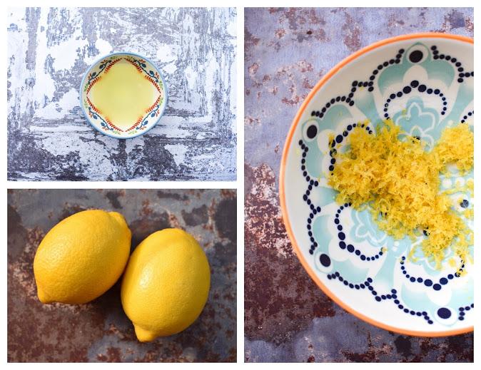 lemon, lemon zest and lemon juice