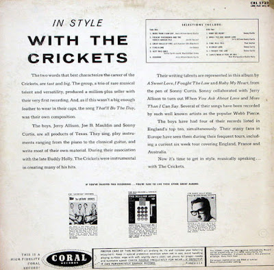 The Crickets - In Style WIth The Crickets (1960)