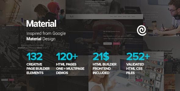 Material - Multipurpose HTML Theme with Page Builder