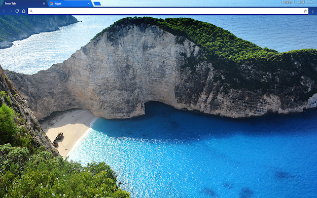 Greek Beach Google Chrome Theme