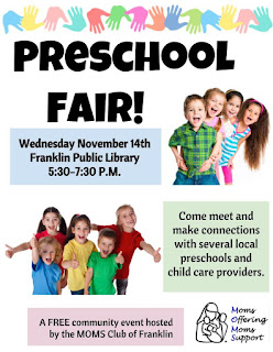 MOMS Club: Preschool Fair - Nov 14