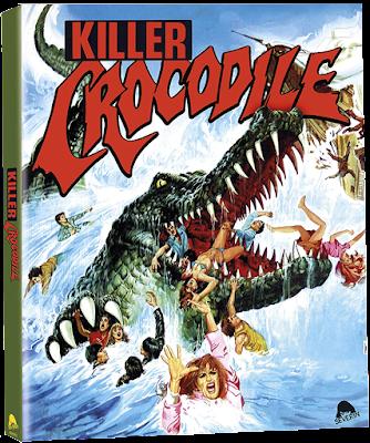 Bluray Cover for Severin Films' KILLER CROCODILE: Limited Edition