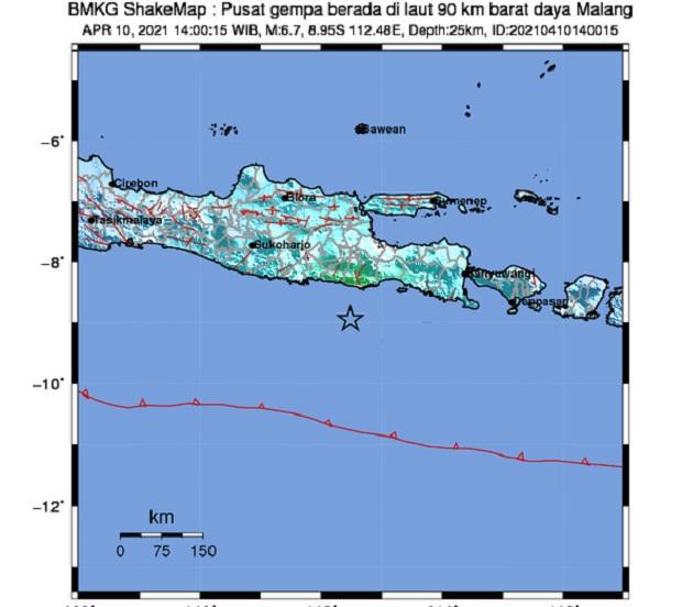 gempa malang 6,1 SR pada 10 april 2021