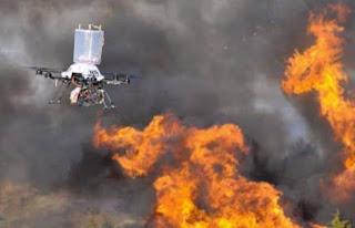 teknologi drone untuk pemadam kebakaran